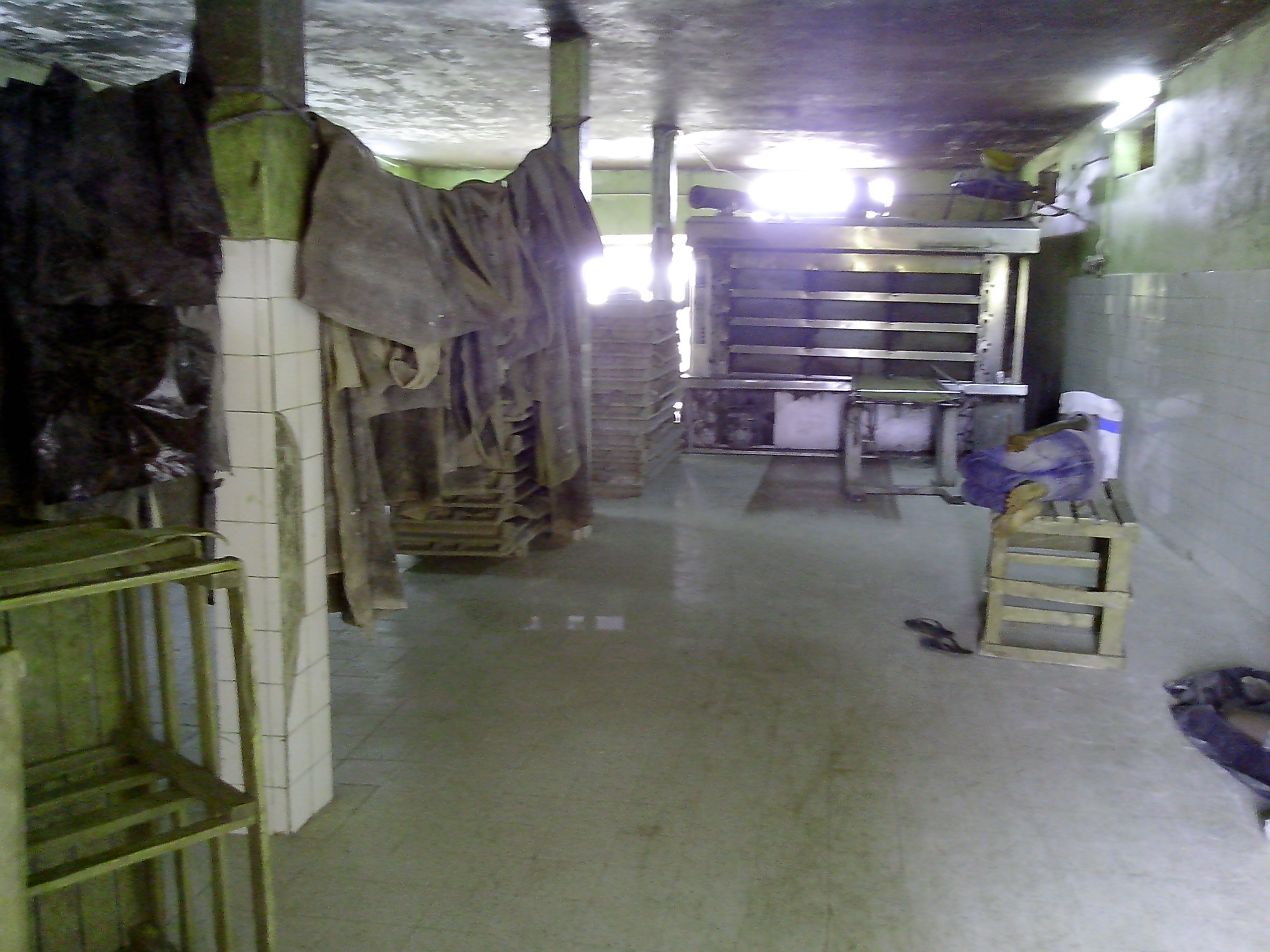 Intérieur d'une boulangerie (Four, Tapis, Caisses)