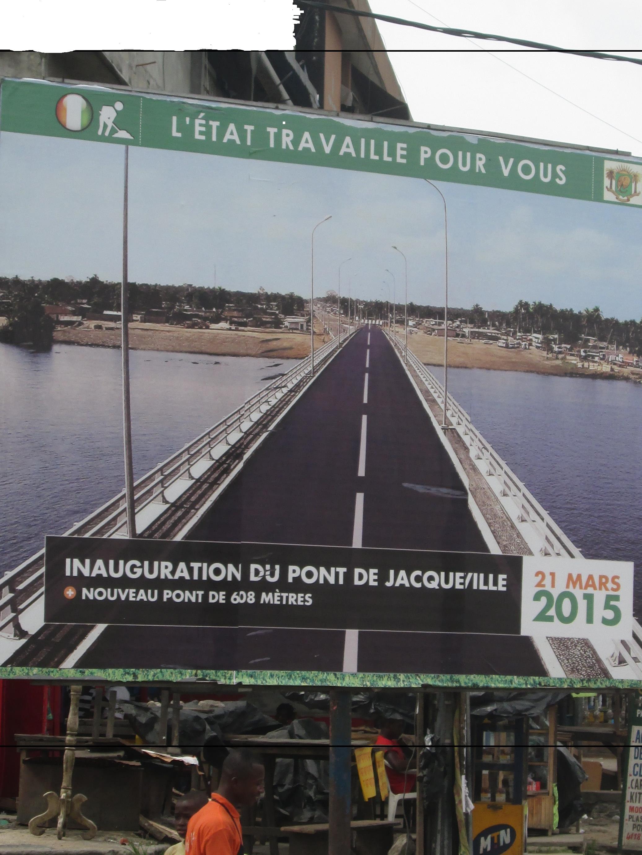 ''L'Etat travaille pour vous'' slogan populaire accompagnant chaque chantier du PRADO