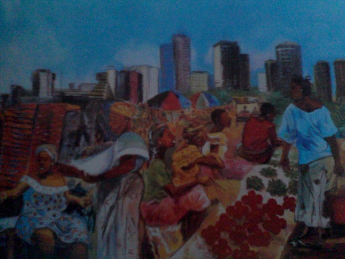 Ville de bouaké. Fresque du peintre. Photo extraite du livre, naissance d'une nation. (Photo.ABC)