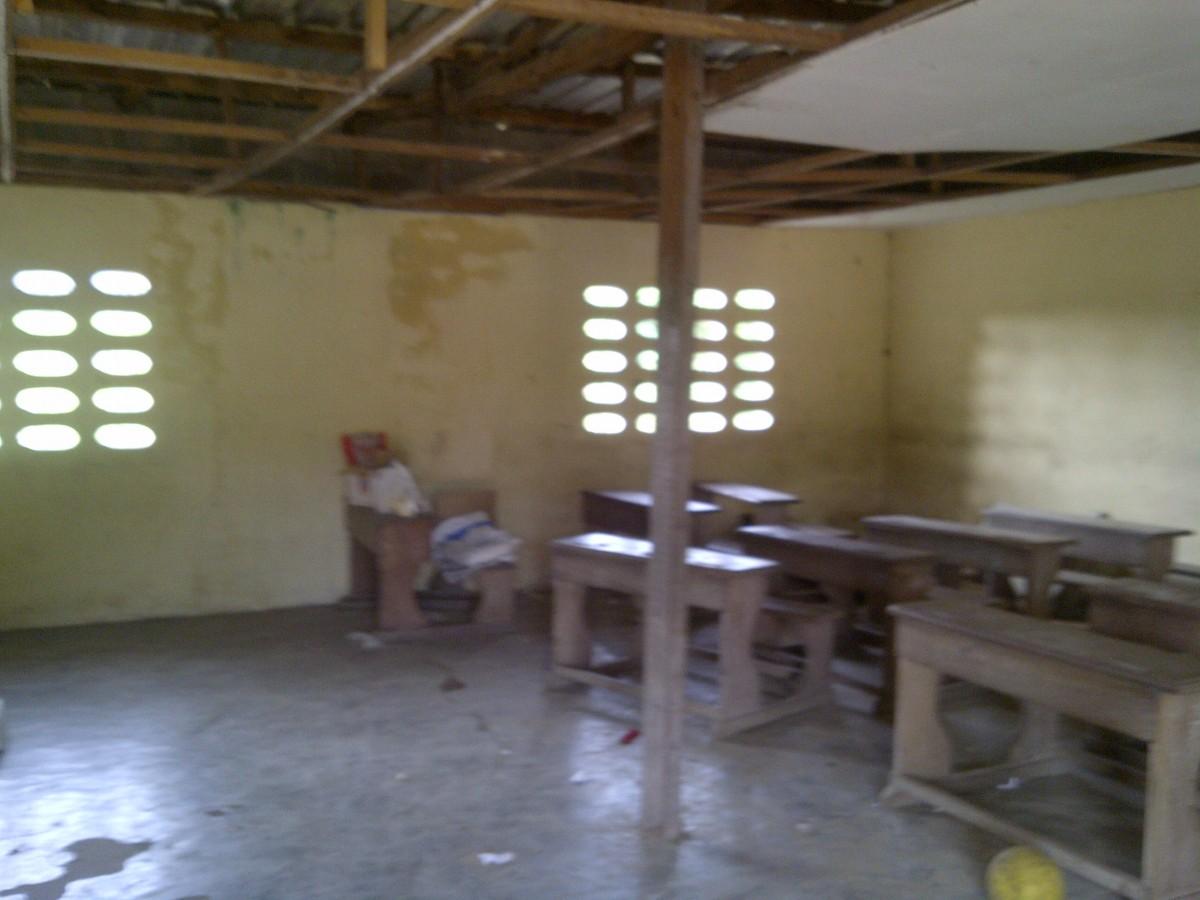 L'intérieure d'une école primaire à Yopougon, Abidjan Ph.ABC
